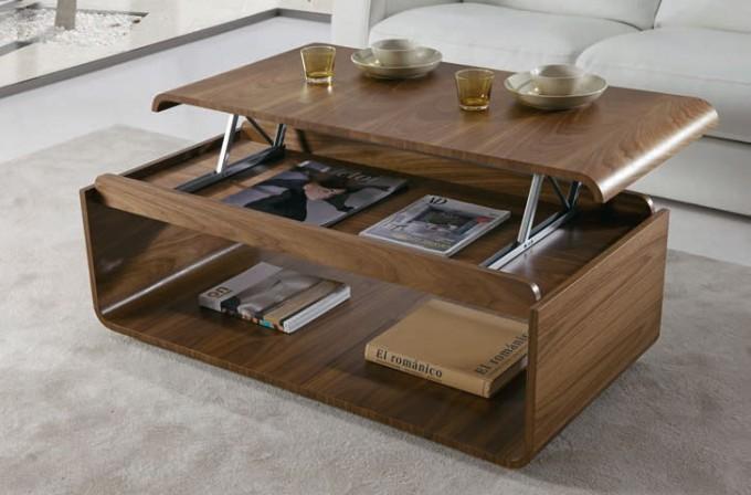 Zoom Sur La Table Basse Avec Plateau Relevable Ma Table Basse
