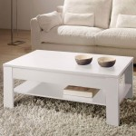 Table basse relevable Oralia blanc
