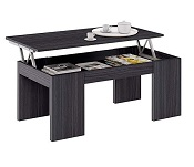 KENDRA Table basse grise plateau relevable